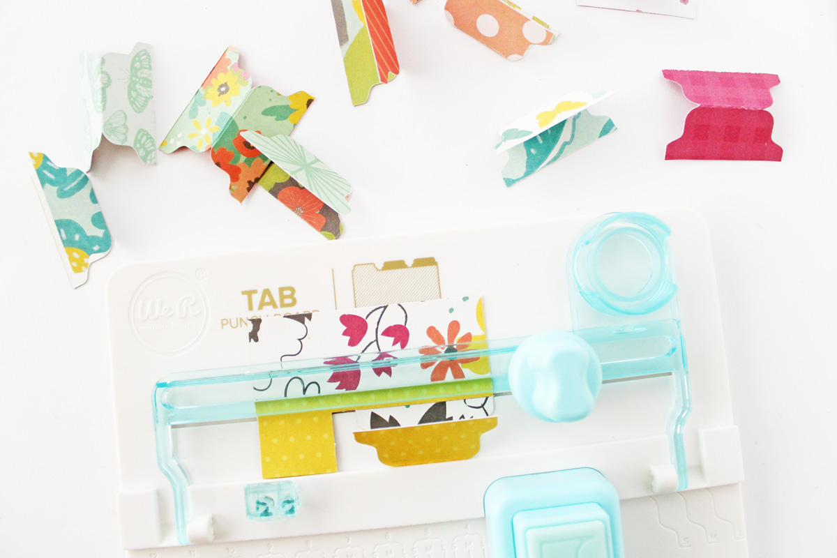 Create different sizes and styles of tabs with the Tab Punch Board by We R Memory Keepers