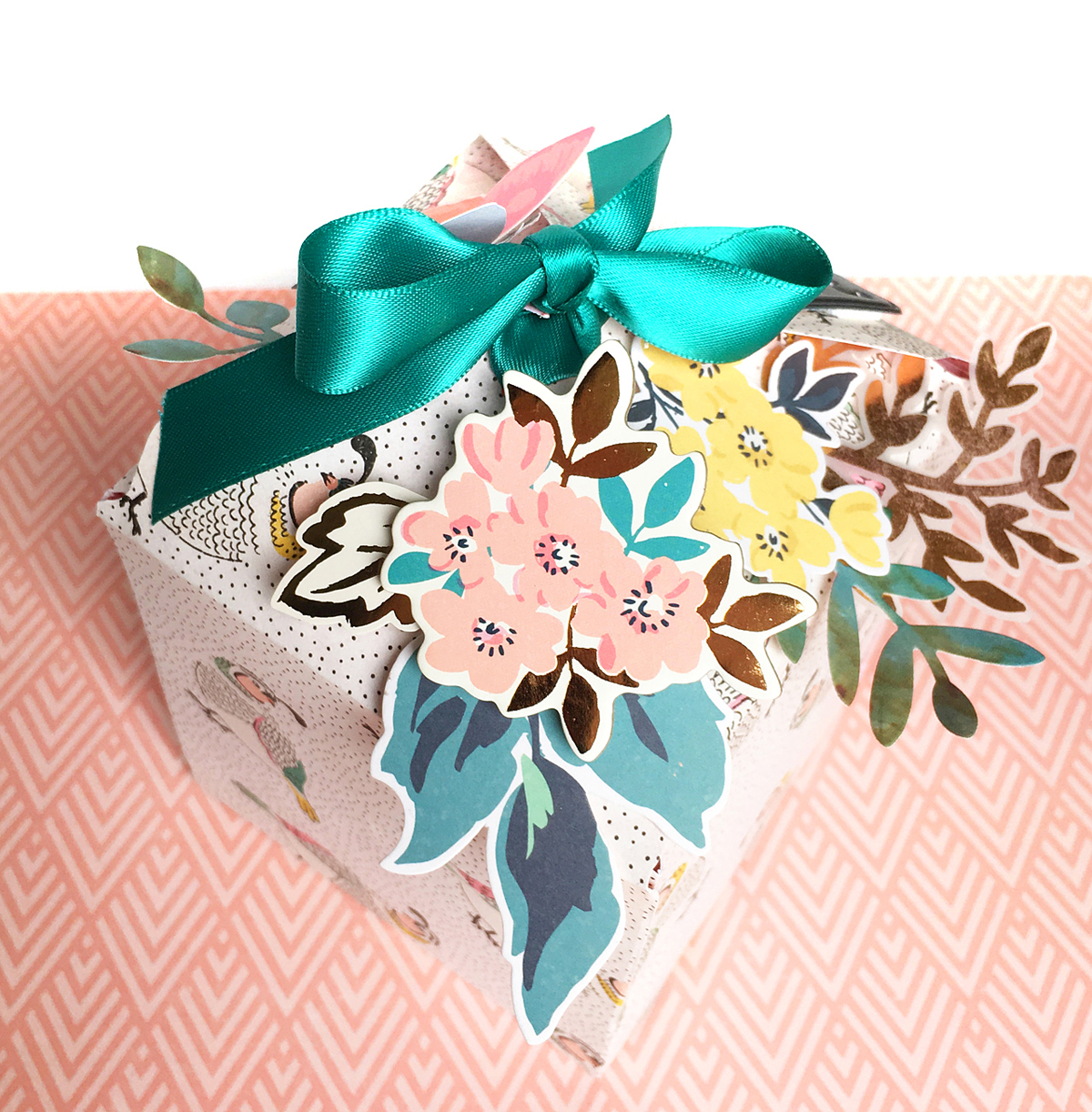123 Punch Board Gift Box by Enza Gudor for We R Memory Keepers