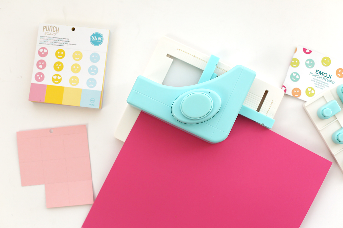 Square Punch Board + Emoji Punch Board by We R Memory Keepers