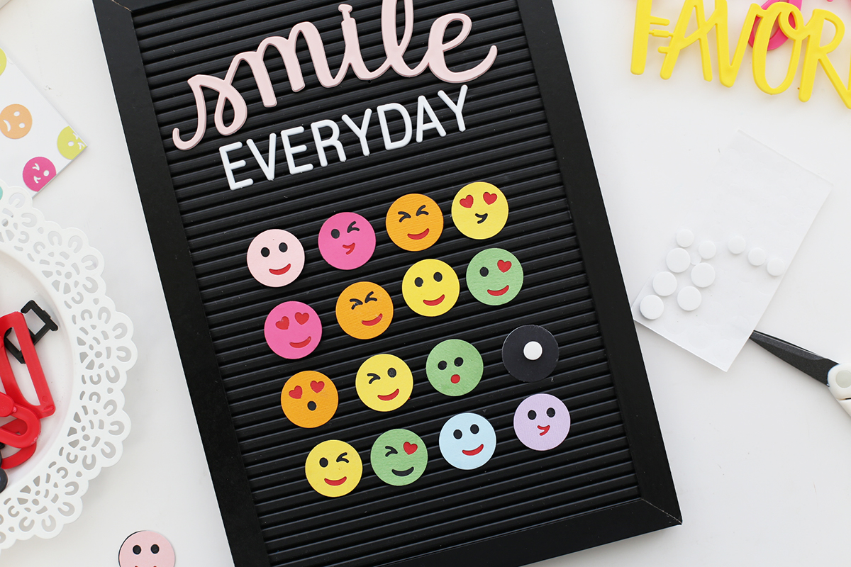 Emoji Letterboard Wall Decor by Eva Pizarro for We R Memory Keepers