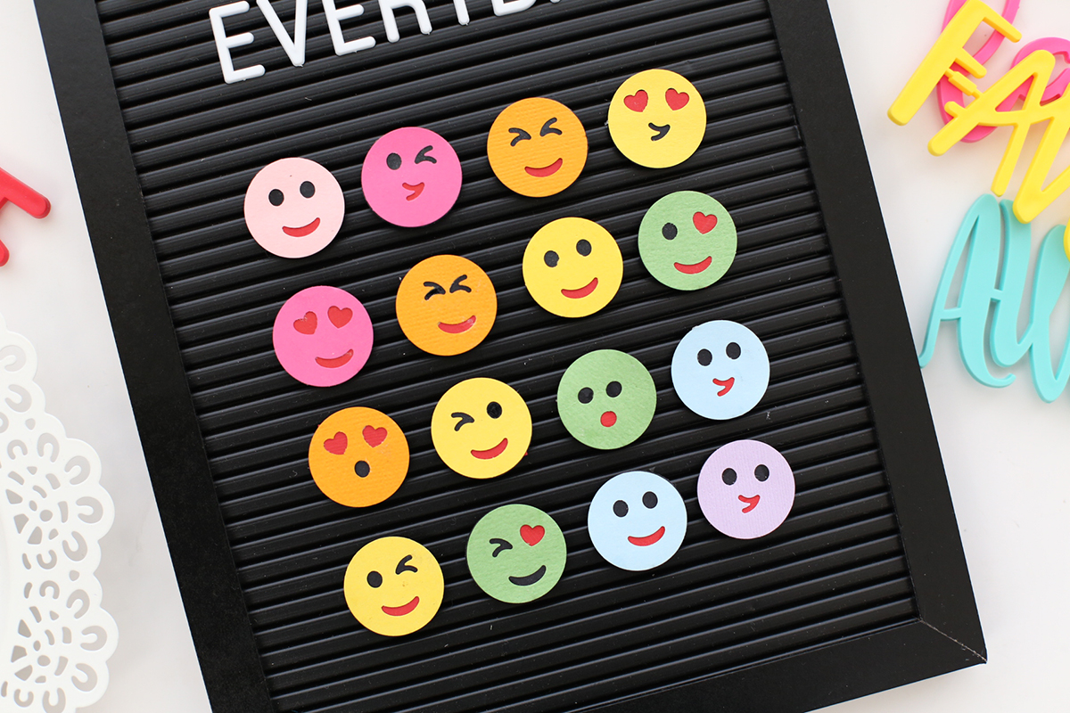 Emoji Letterboard Wall Decor by Eva Pizarro by We R Memory Keepers