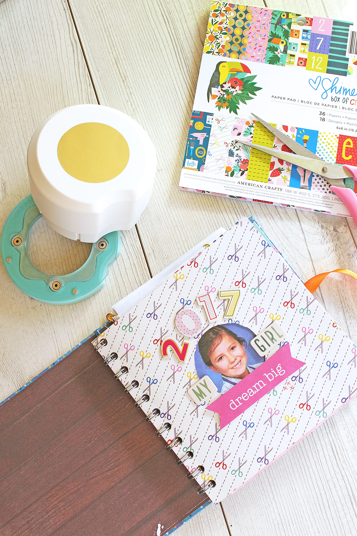 Mini Album by Chantalle McDaniel featuring the We R Memory Keepers Clear Cut Circle Punch