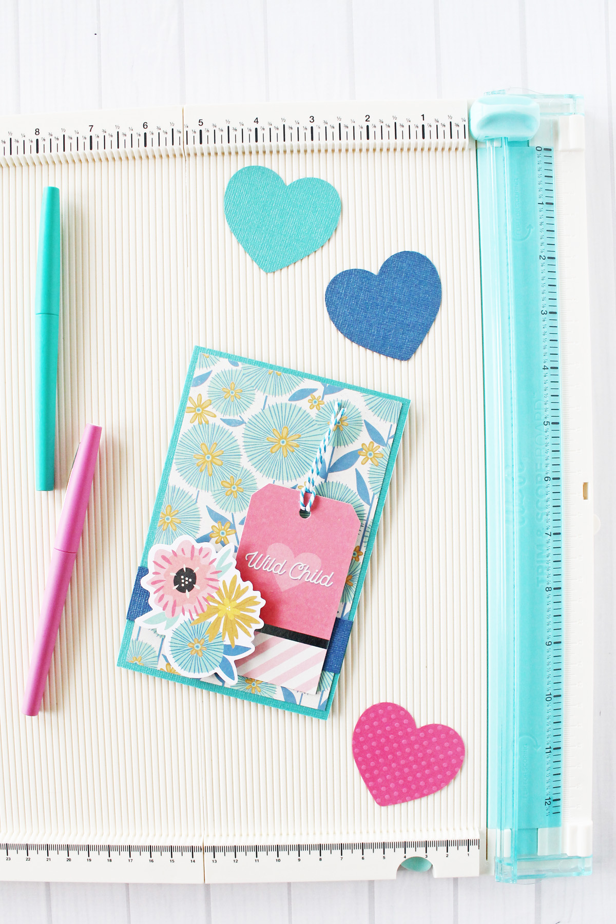Handmade Card featuring the Trim and Score Board by Laura Silva for We R Memory Keepers