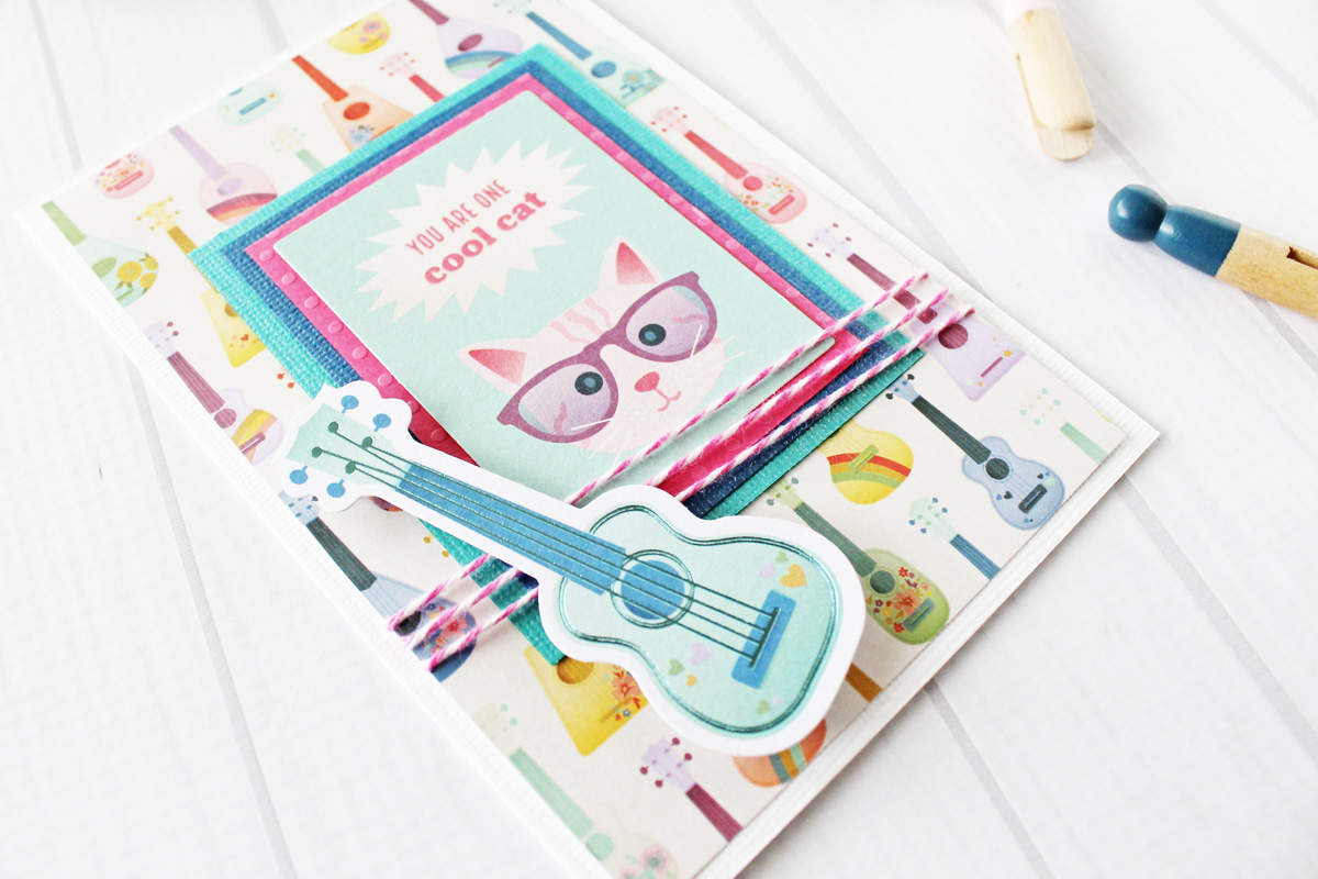 Handmade Card featuring the Square Punch Board by Laura Silva for We R Memory Keepers
