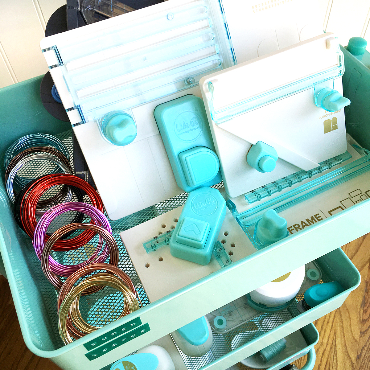 Craft Room Storage and Organization Tips with Enza Gudor for We R Memory Keepers