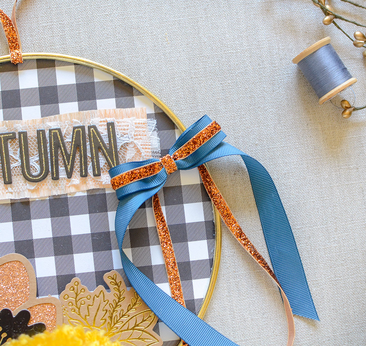 Autumn Hoop by Rebecca Luminaria for We R Memory Keepers featuring the Bow Loom