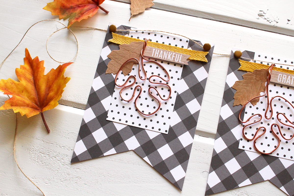 Fall Banner with the Happy Jig by Kimberly Crawford for We R Memory Keepers