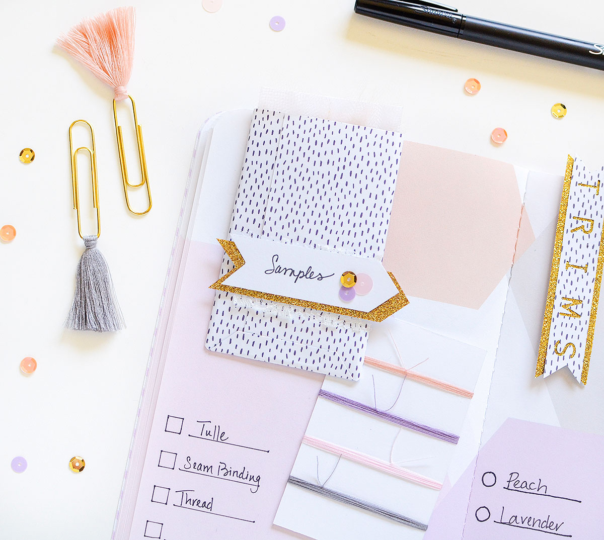 DIY Planner Clip by Rebecca Luminarias for We R Memory Keepers