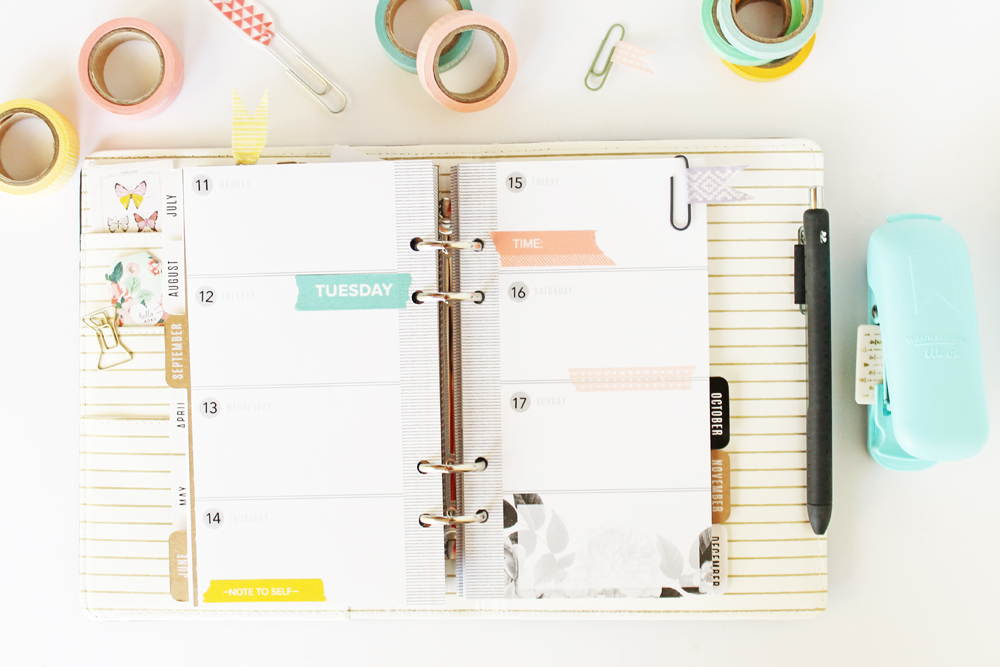 DIY Washi Tape Planner Clips by Laura Silva for We R Memory Keepers