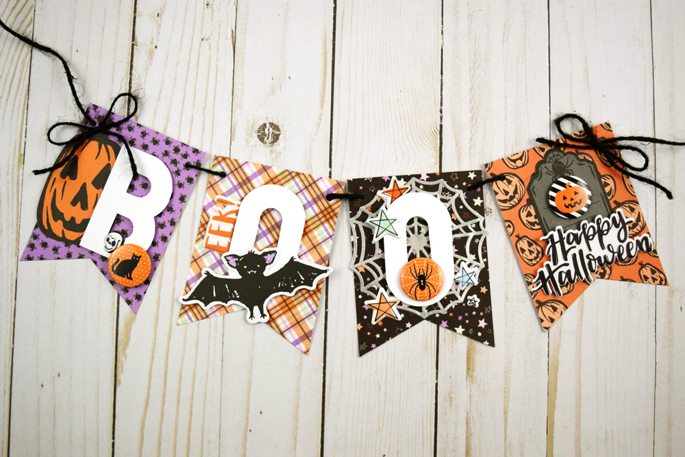 Halloween Banner with the We R Memory Keepers Banner Punch Board