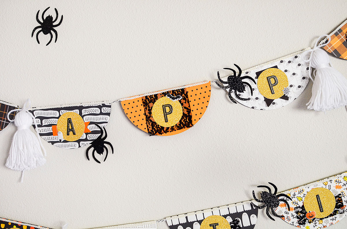 Halloween Banner featuring the Circle Spin & Trim by Rebecca Luminarias for We R Memory Keepers