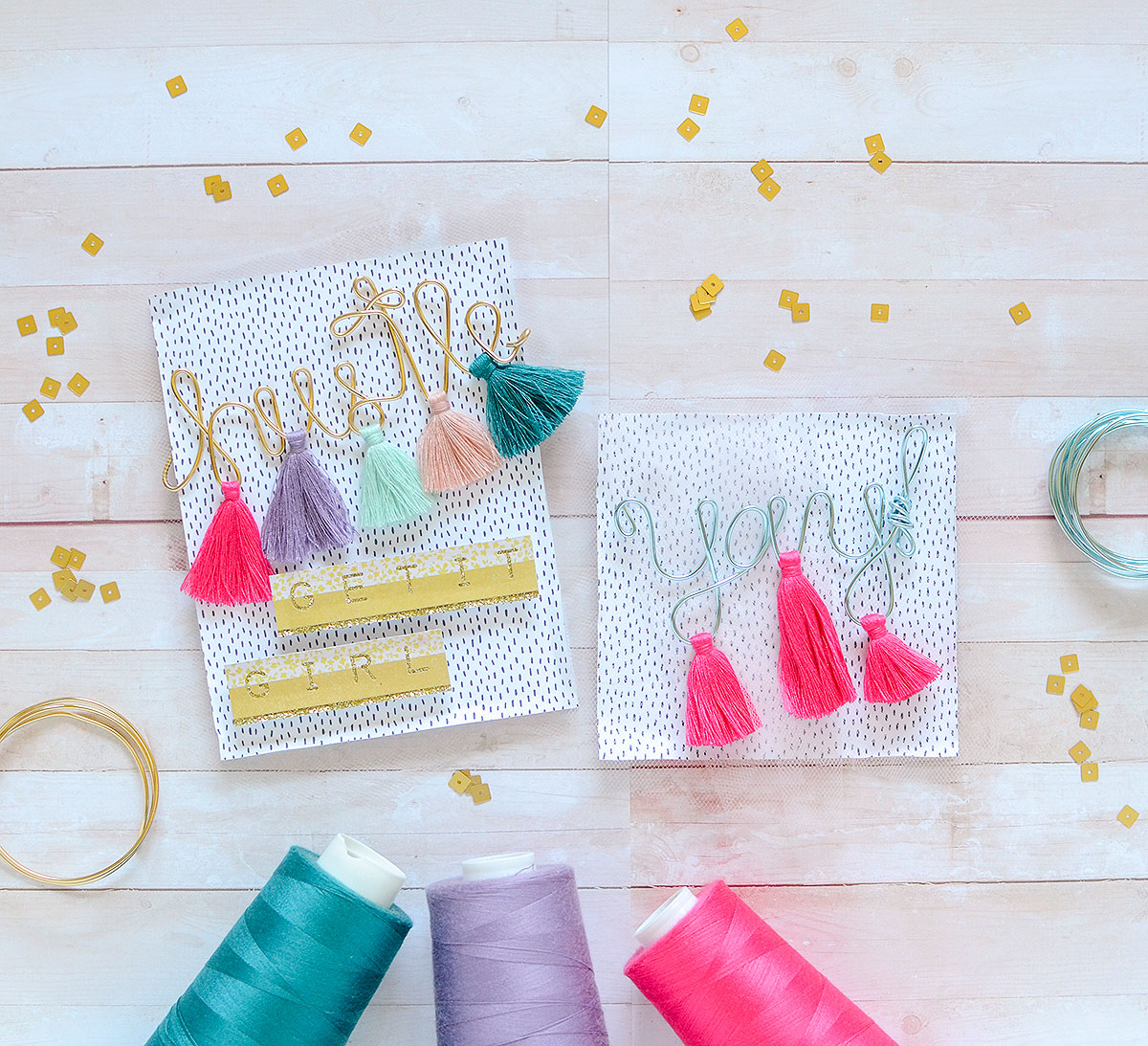 Happy Jig Tassel Cards by Rebecca Luminarias for We R Memory Keepers
