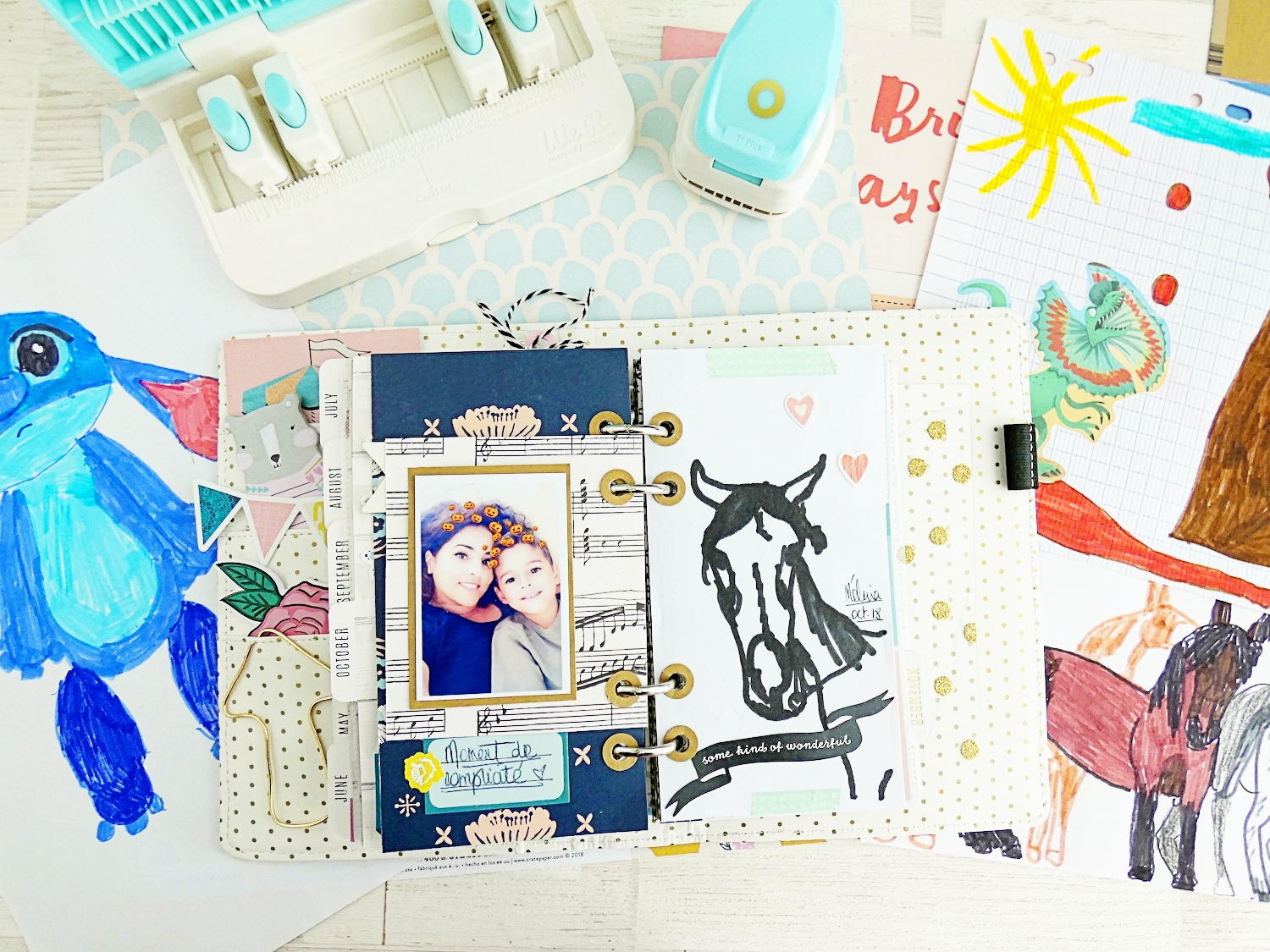 Memory Planner with the Planner Punch Board by Soraya Maes for We R Memory Keepers