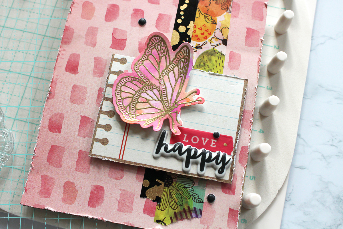 Handmade Card by Kimberly Crawford for We R Memory Keepers featuring the Precision Press Advanced and Vicki Boutin Stamps & Dies
