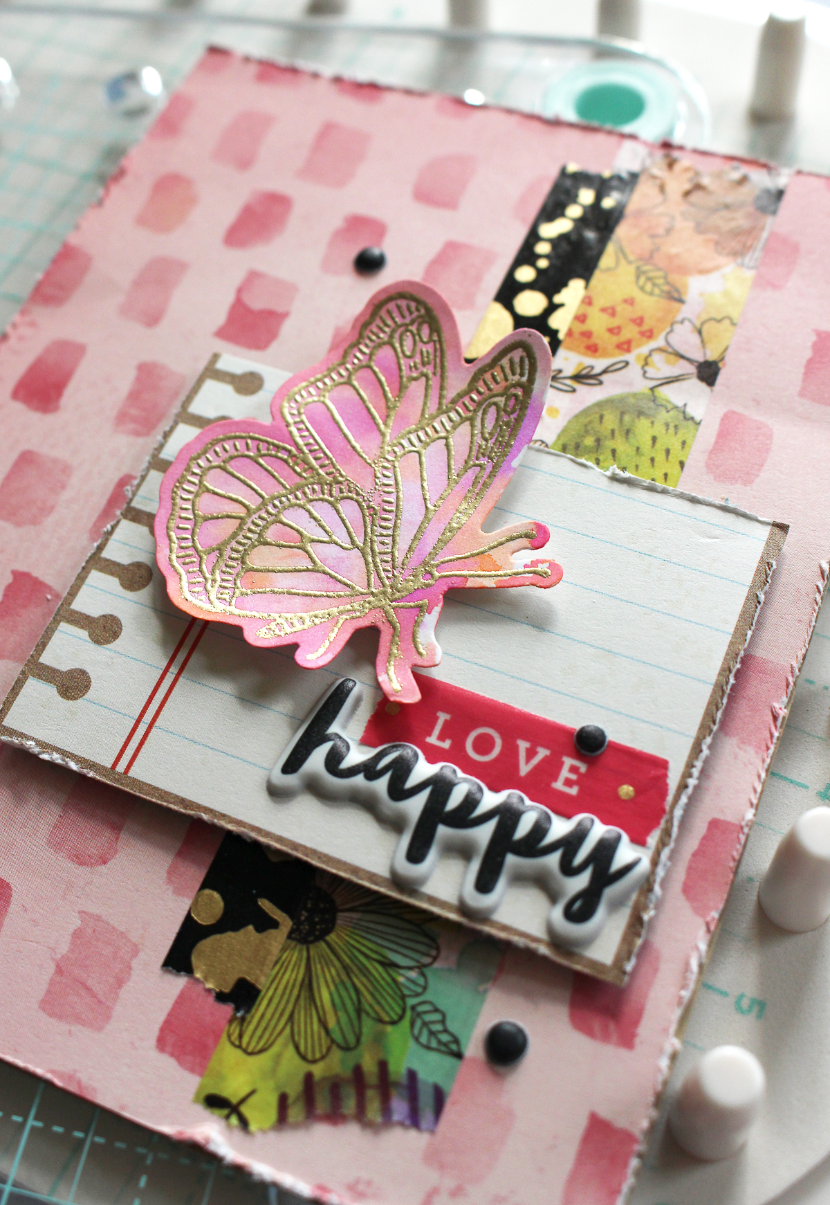 Handmade Card by Kimberly Crawford featuring the We R Memory Keepers Precision Press Advanced and Vicki Boutin Field Notes Stamp & Dies Set