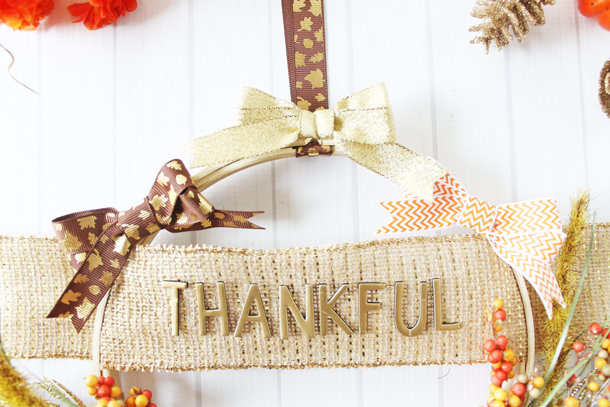 Thanksgiving Hoop Wreath with the Bow Loom by Laura Silva for We R Memory Keepers