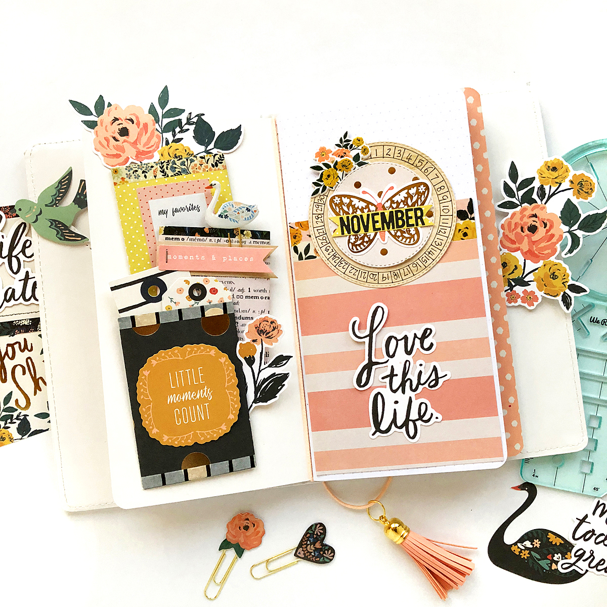 Travelers Notebook with the Journal Guide by Enza Gudor for We R Memory Keepers