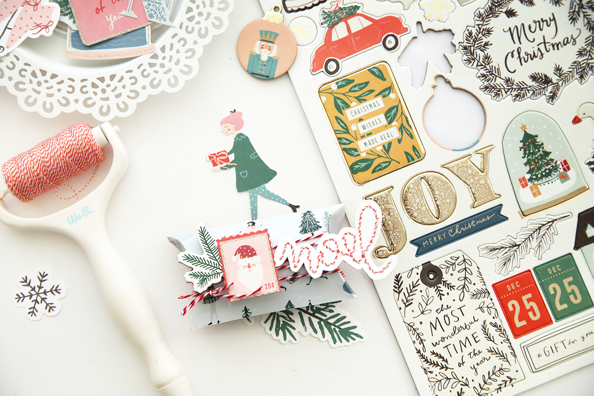 DIY Christmas Pillow Boxes by Eva Pizarro for We R Memory Keepers