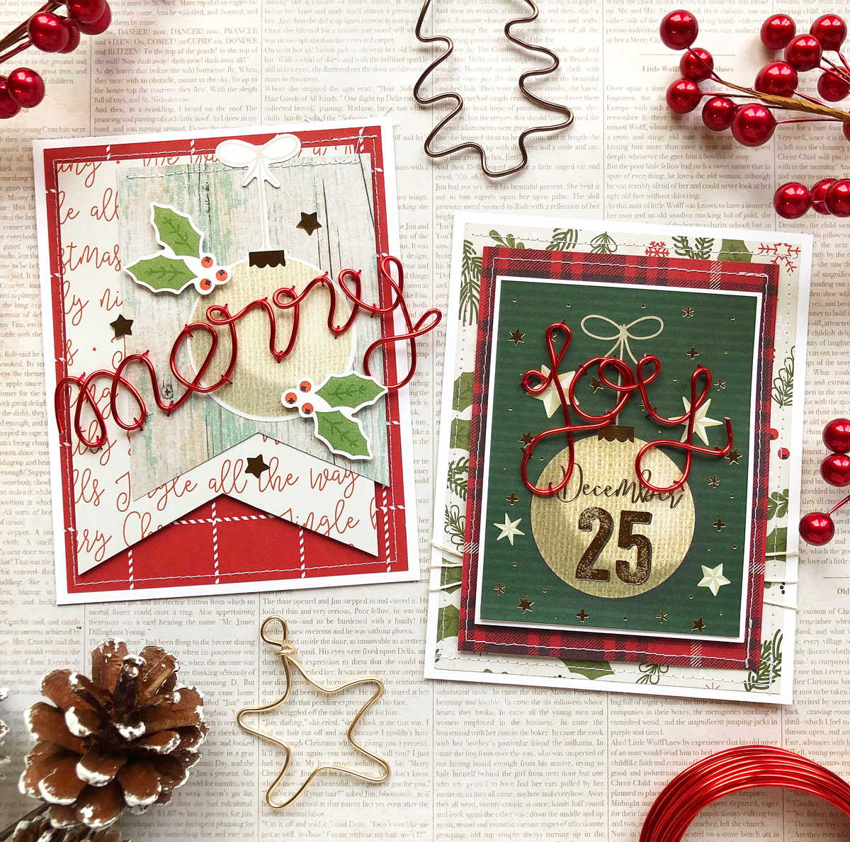 Happy Jig Holiday Cards by Enza Gudor for We R Memory Keepers