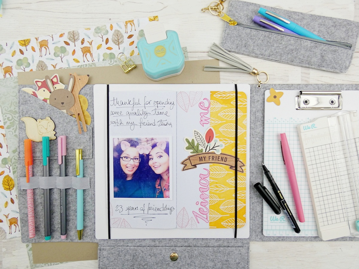 Gratitude Journal by Soraya Maes for We R Memory Keepers featuring the new Journal Studio Tools and Storage and the Journal Studio collection by American Crafts