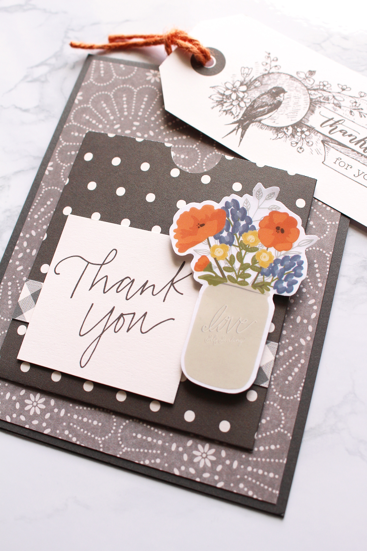 Thank You Cards featuring the Pocket Punch Board by Kimberly Crawford for We R Memory Keepers