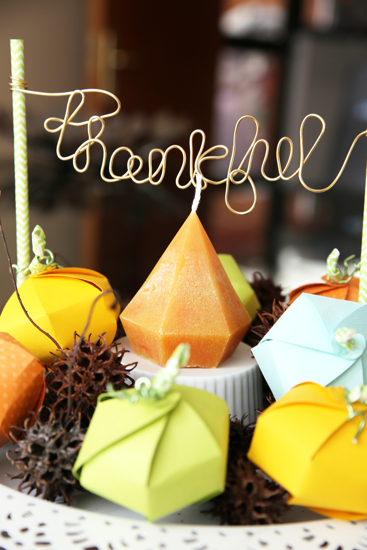 DIY Thanksgiving Table Centerpiece by Eva Pizarro for We R Memory Keepers