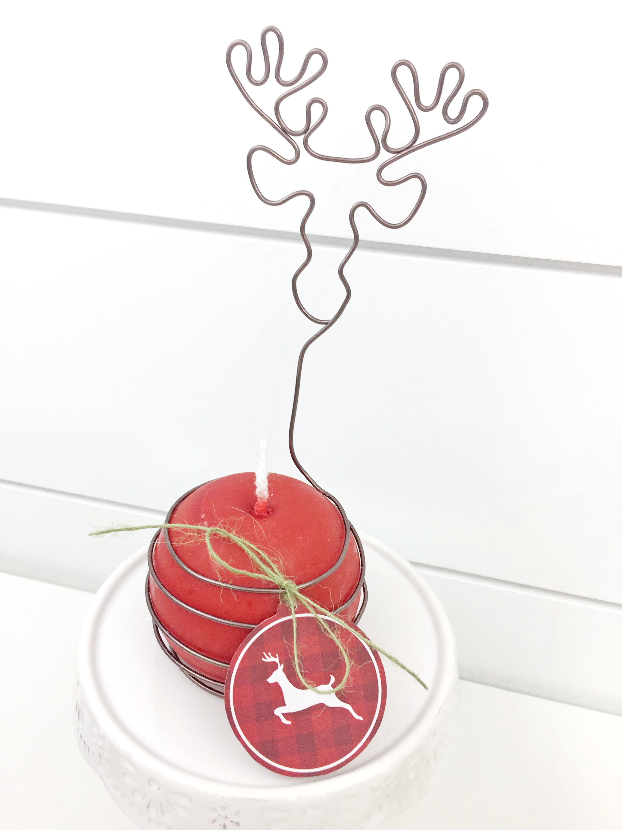 Wire Wrapped Holiday Candles by Aly Dosdall for We R Memory Keepers