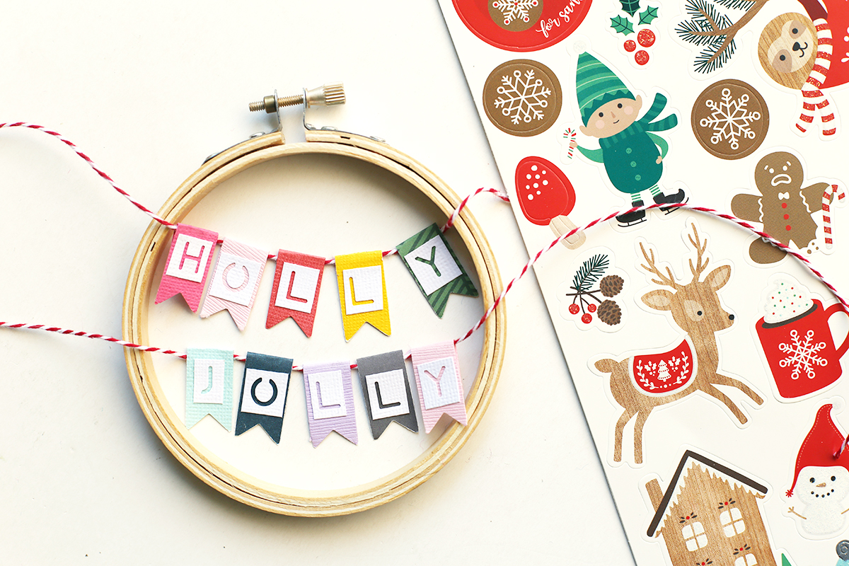 DIY Christmas Hoops by Eva Pizarro for We R Memory Keepers