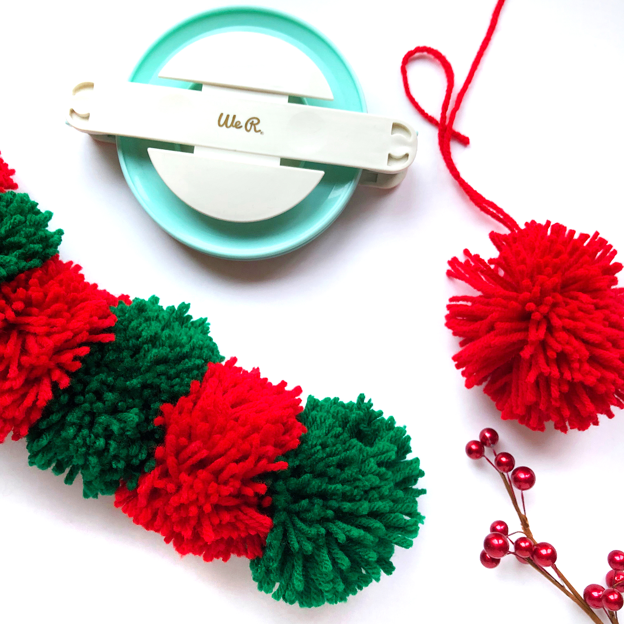 DIY Pom Pom Scarf with the Jumbo Pom Pom Maker by Enza Gudor for We R Memory Keepers