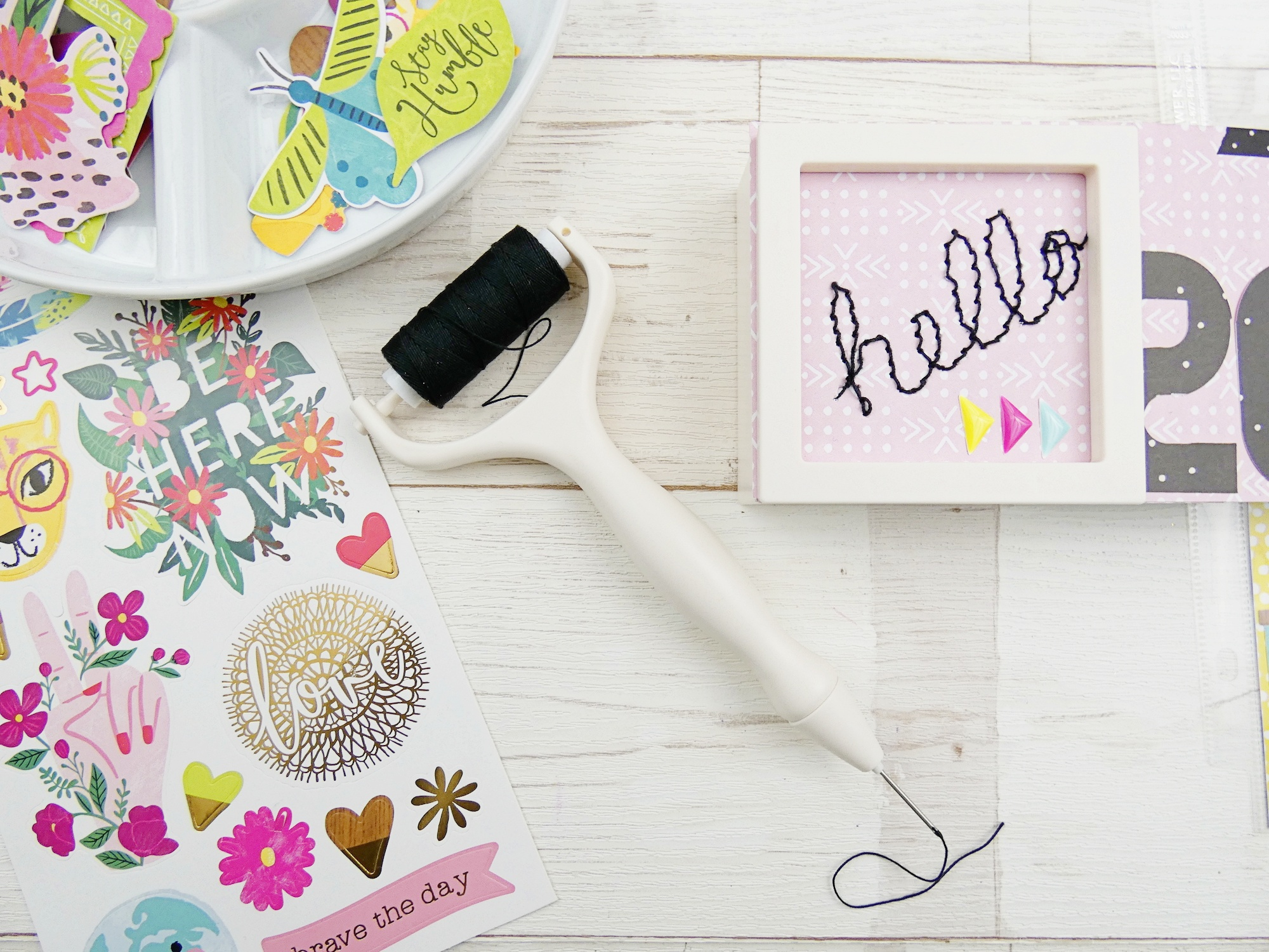 Pocket Page featuring the Stitch Happy Pen by Soraya Maes for We R Memory Keepers