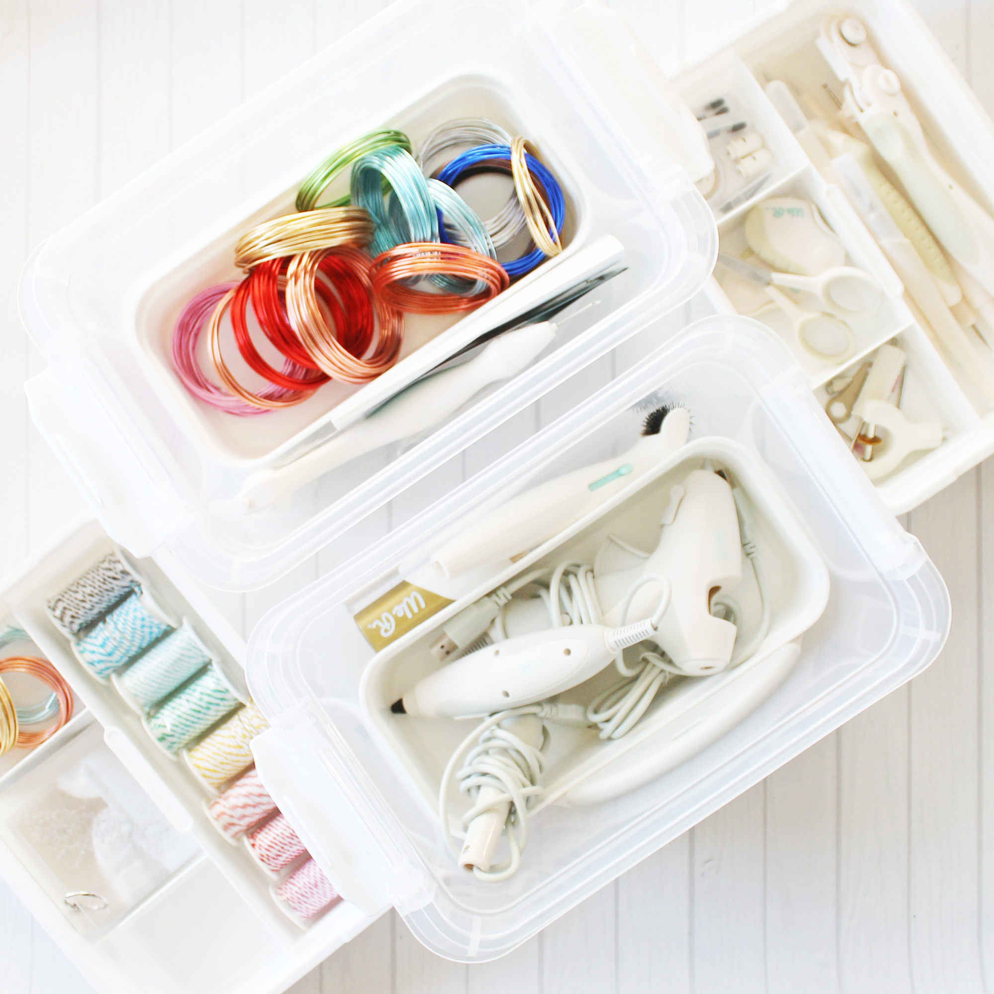 Craft Room Storage Tips by Laura Silva for We R Memory Keepers