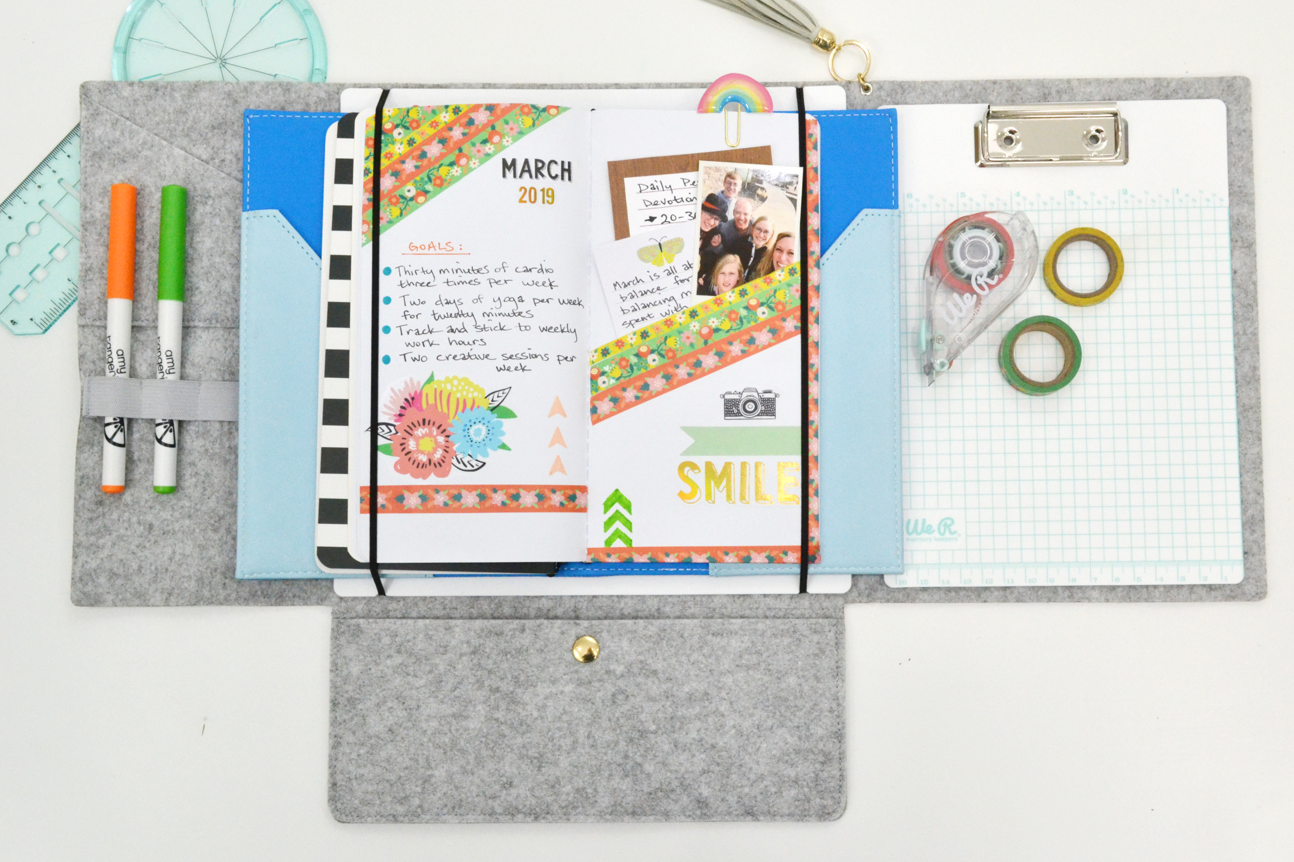 DIY Washi Tape Folder by Aly Dosdall for We R Memory Keepers