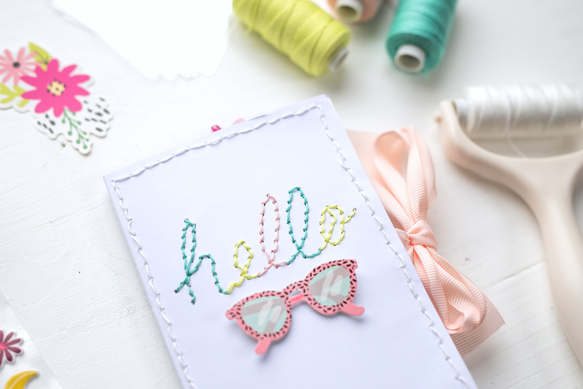 Stitch Happy Pen Mini Album by Steffi Ried for We R Memory Keepers