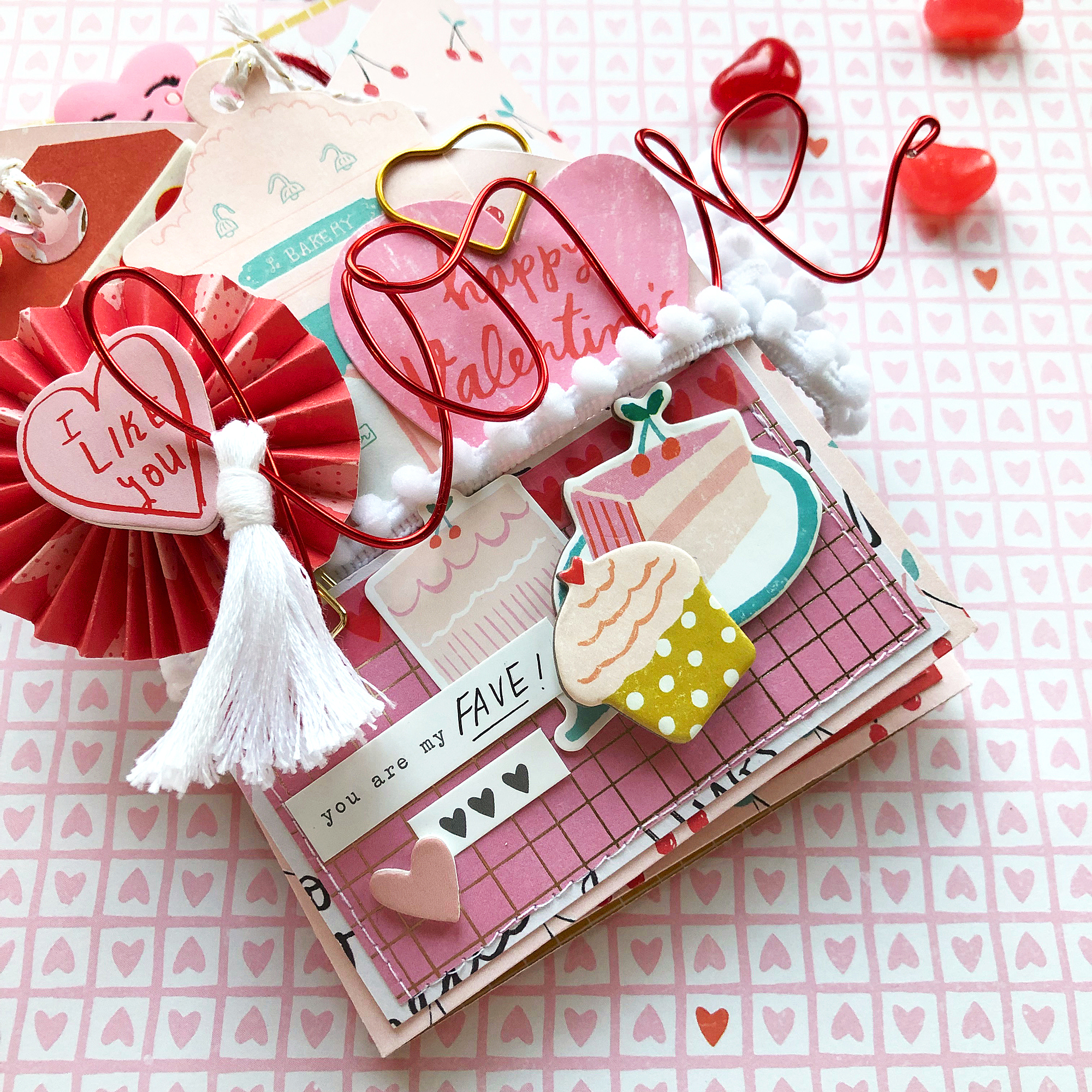 Valentine's Day Flipbook by Enza Gudor for We R Memory Keepers