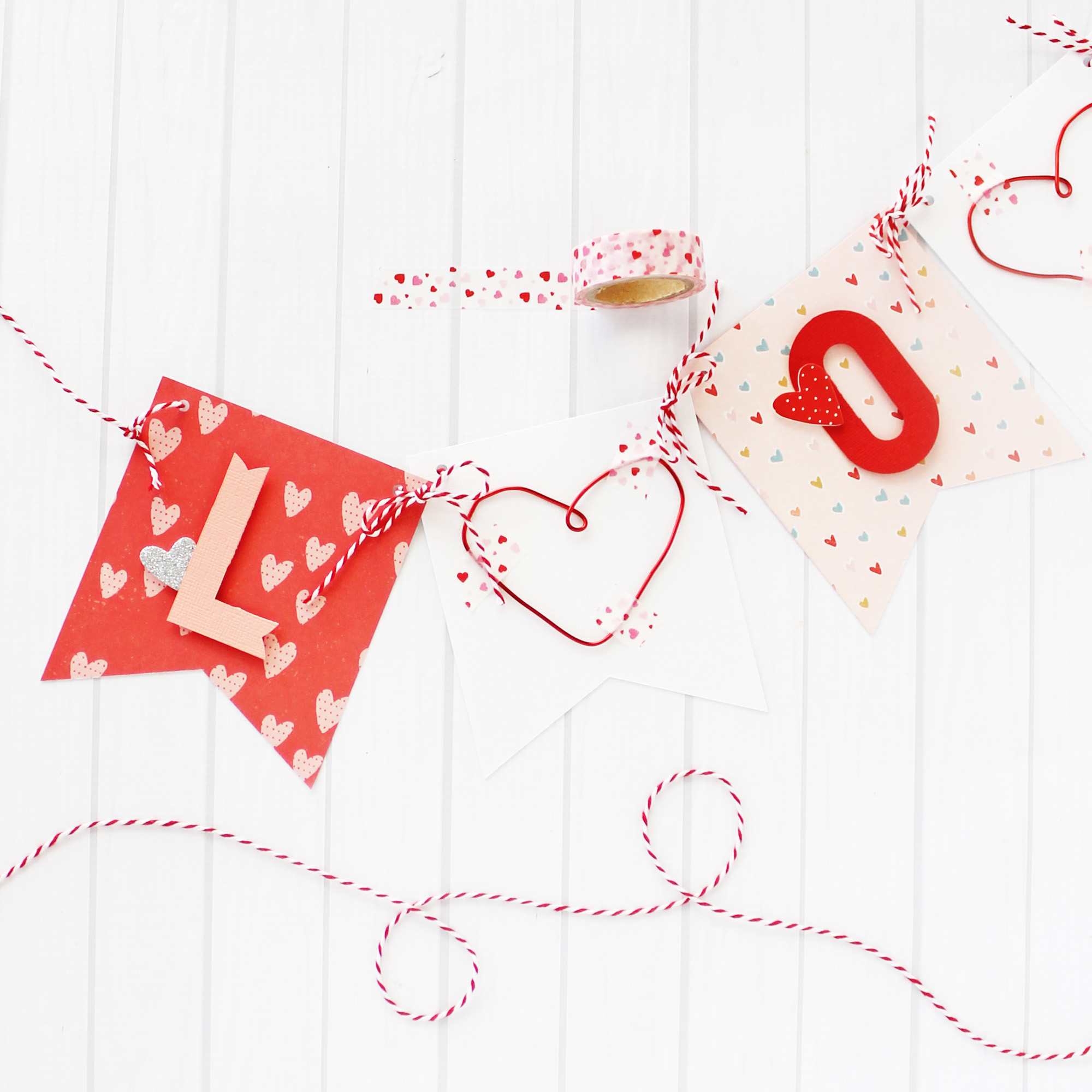 Valentines Day Banner by Laura Silva by We R Memory Keepers
