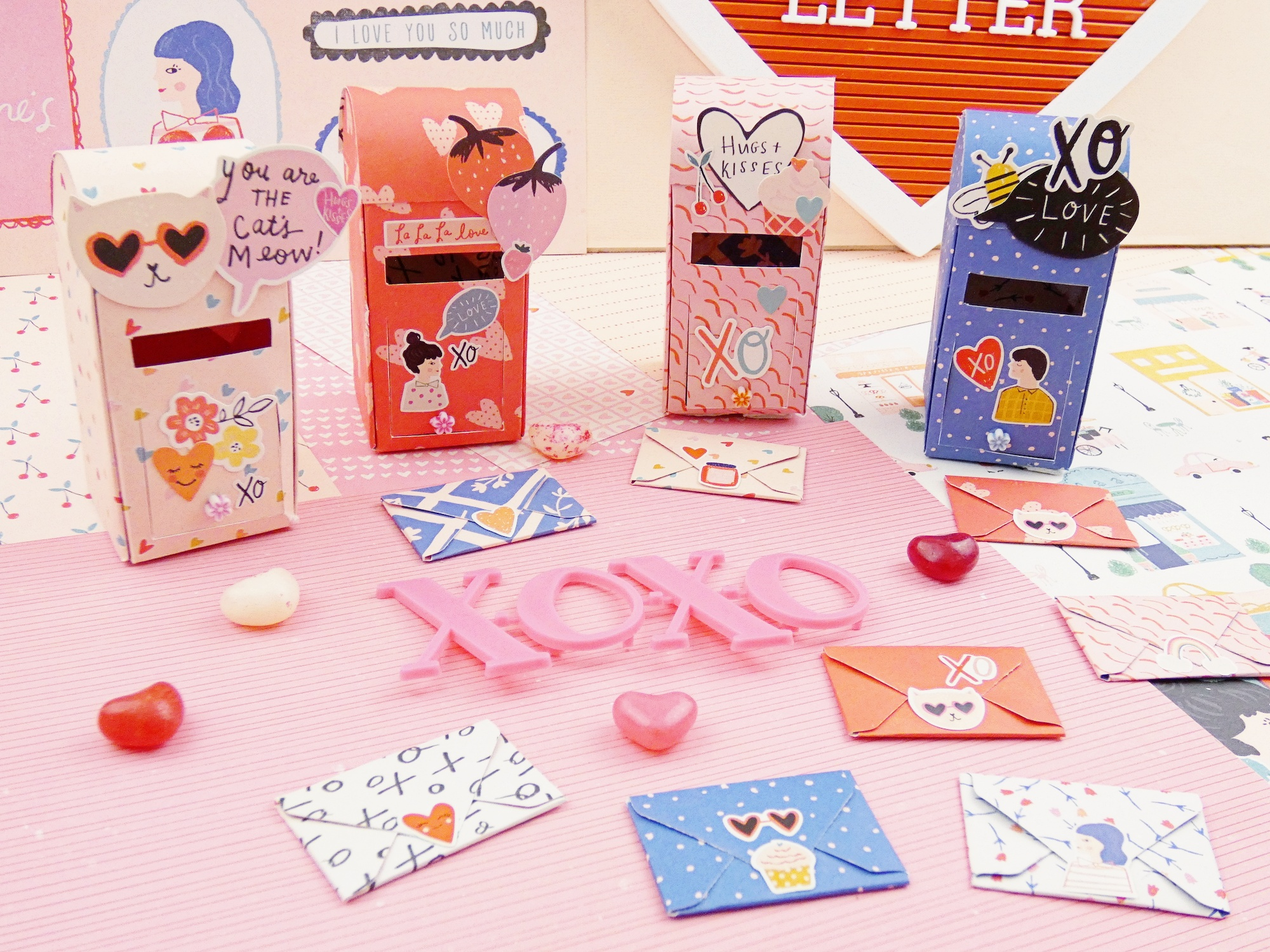 Valentine's Day Mailboxes by Soraya Maes for We R Memory Keepers