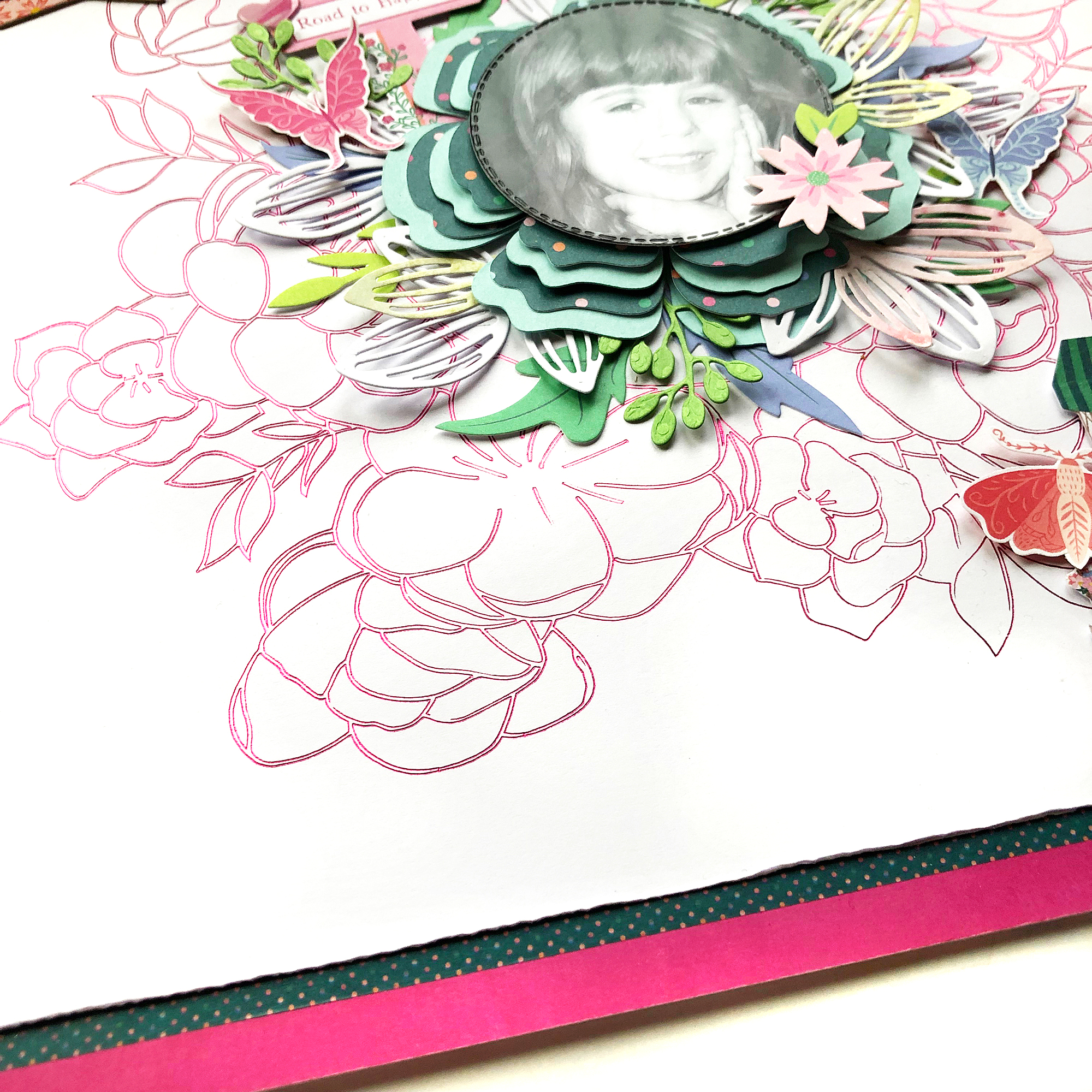 Scrapbook Page with the Foil Quill by Enza Gudor for We R Memory Keepers