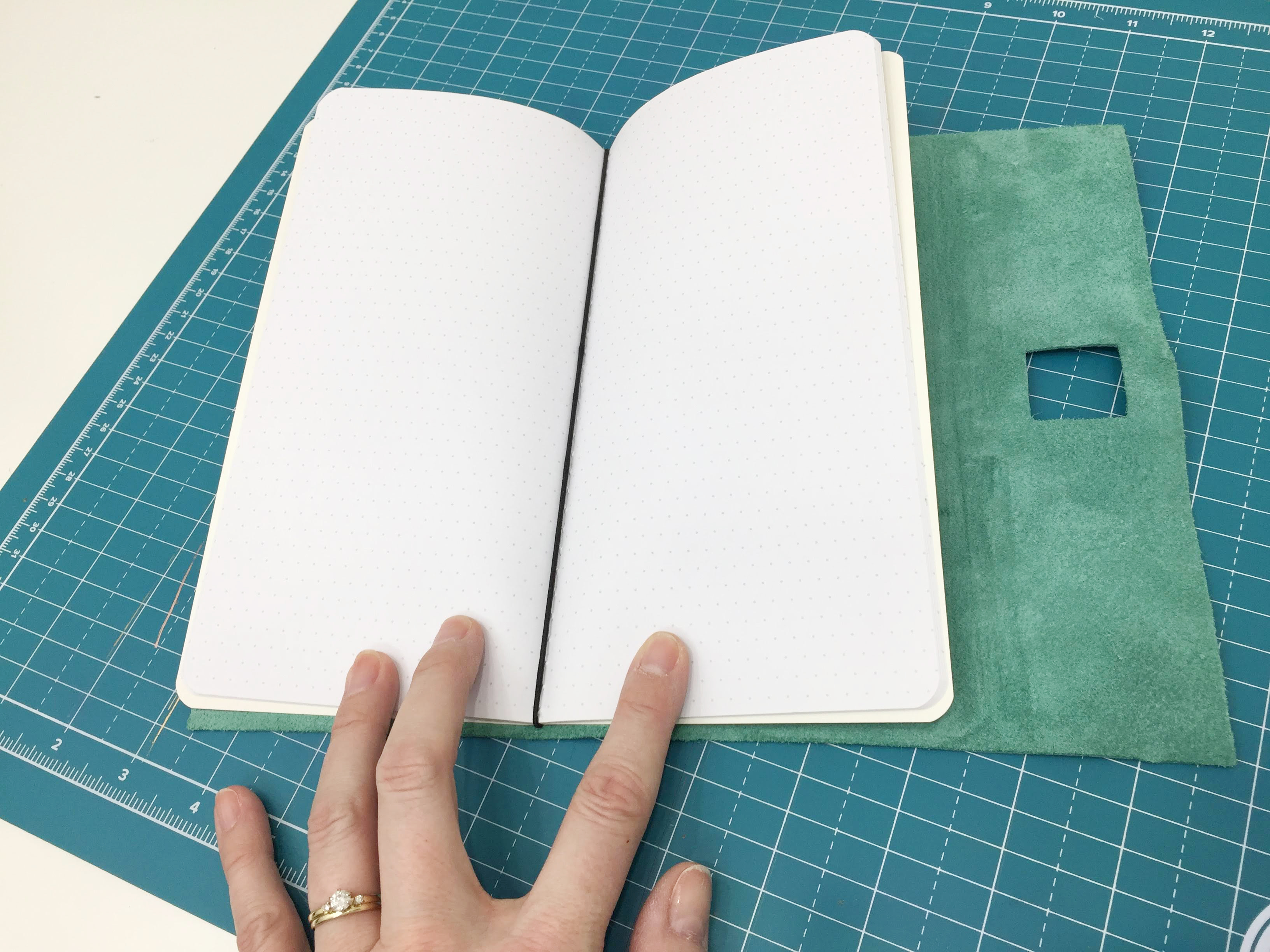 DIY Leather Traveler's Notebook Cover by Aly Dosdall featuring the We R Memory Keepers Foil Quill