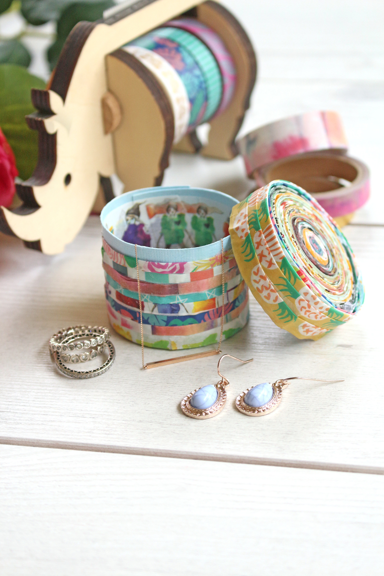 Washi Tape Jewelry Box by Chantalle McDaniel for We R Memory Keepers