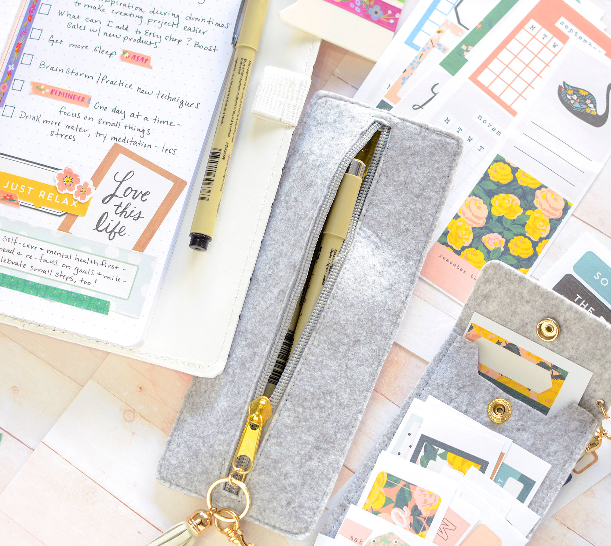 Journal Spread with the We R Memory Keepers Journal Studio Storage by Rebecca Luminarias for We R Memory Keepers