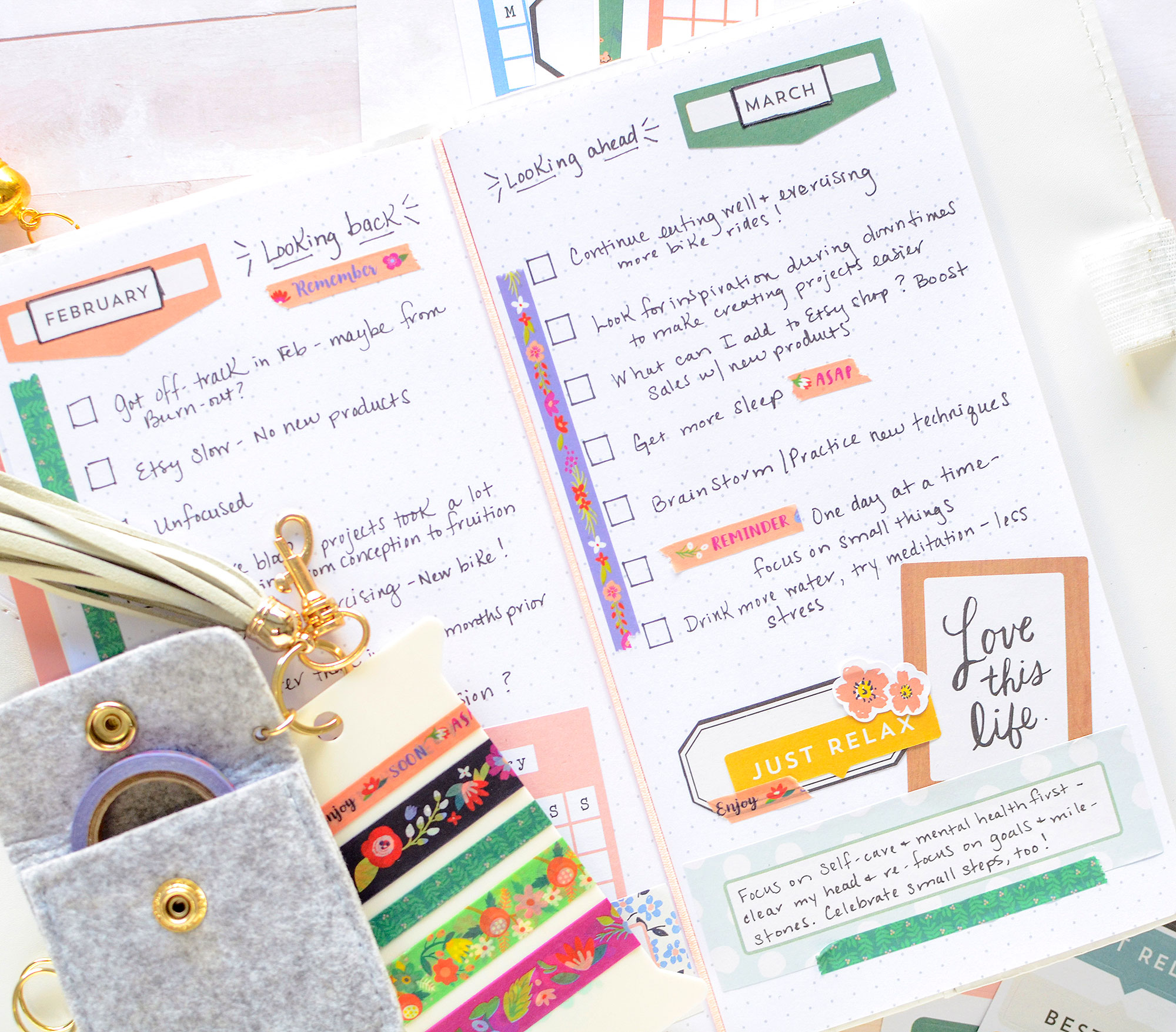Journal Spread with the We R Memory Keepers Journal Studio Storage by Rebecca Luminarias