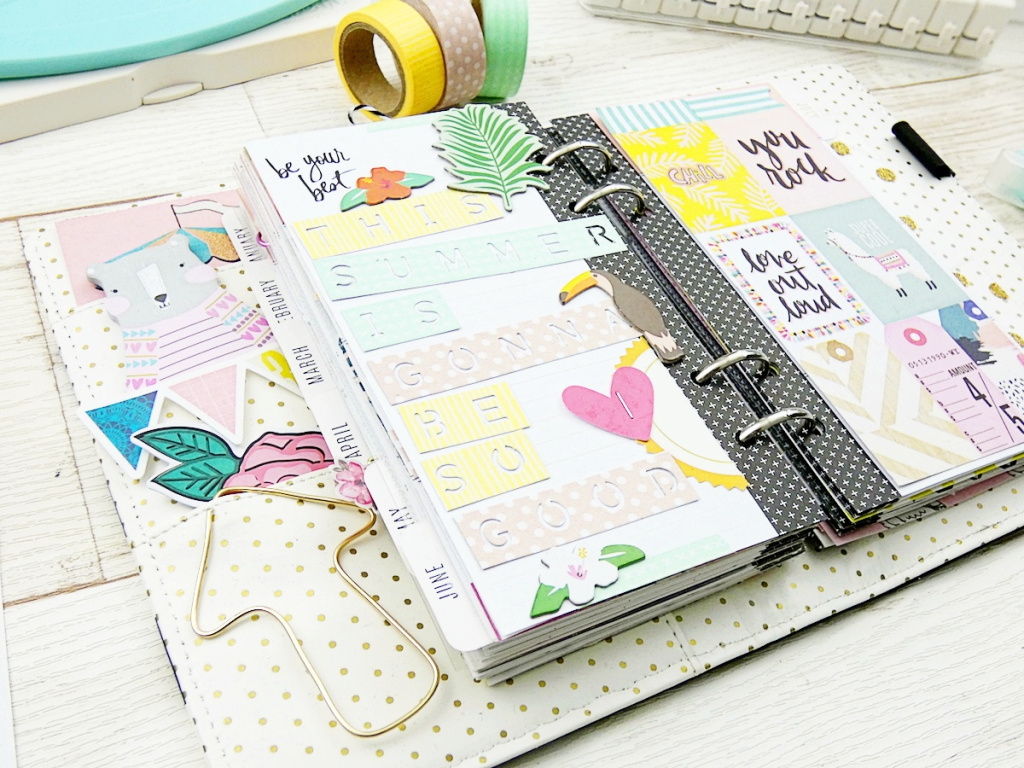 Washi Tape Title Strips by Soraya Maes for We R Memory Keepers using washi tape, cardstock, and the Word Punch Board