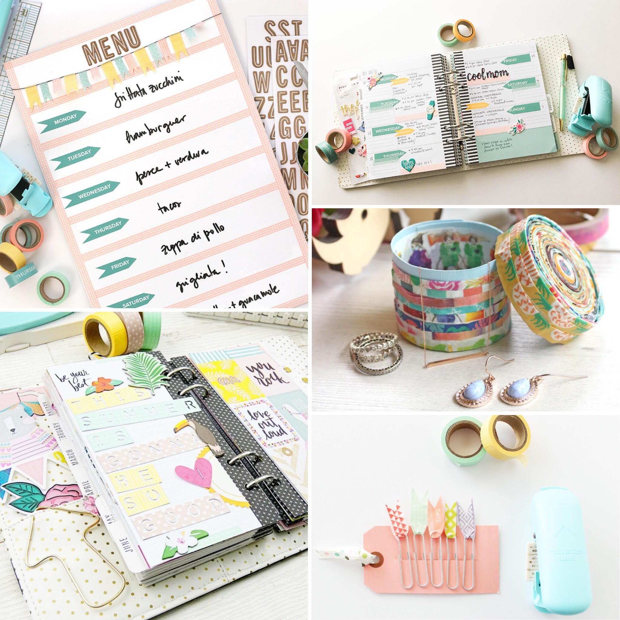 We R Memory Keepers washi tape projects ideas