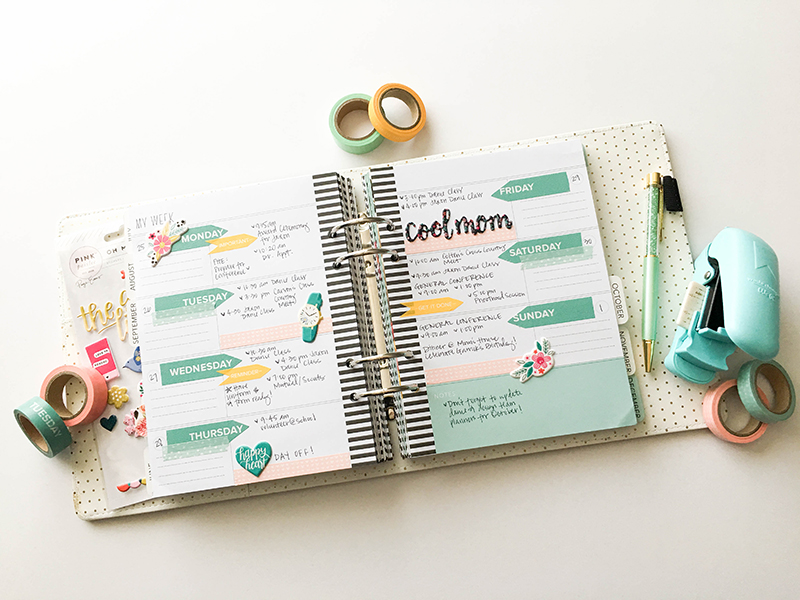 Using Washi Tape in Planners with the We R Memory Keepers Washi Chomper