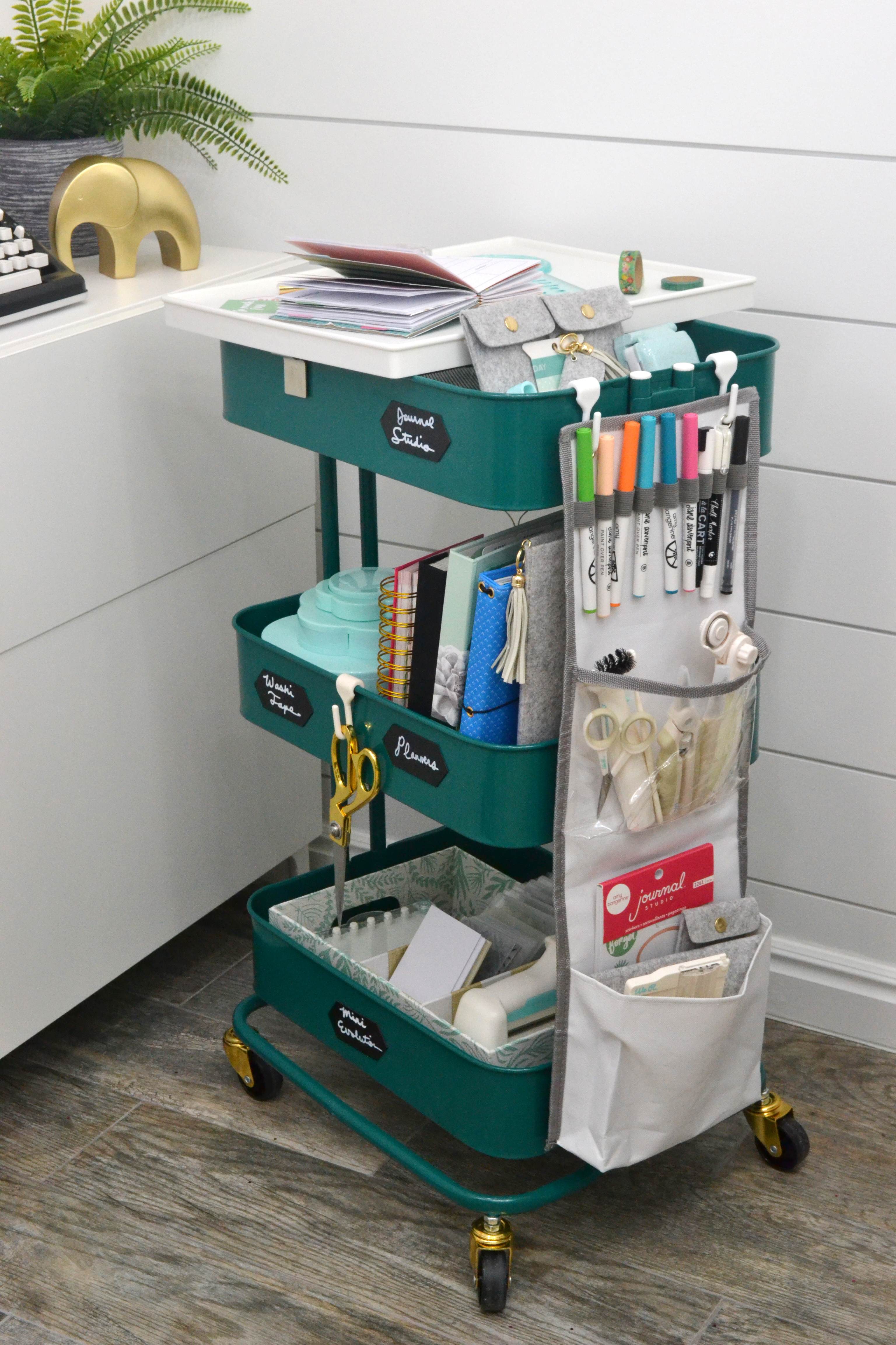 A La Cart craft storage cart by Aly Dosdall for We R Memory Keepers