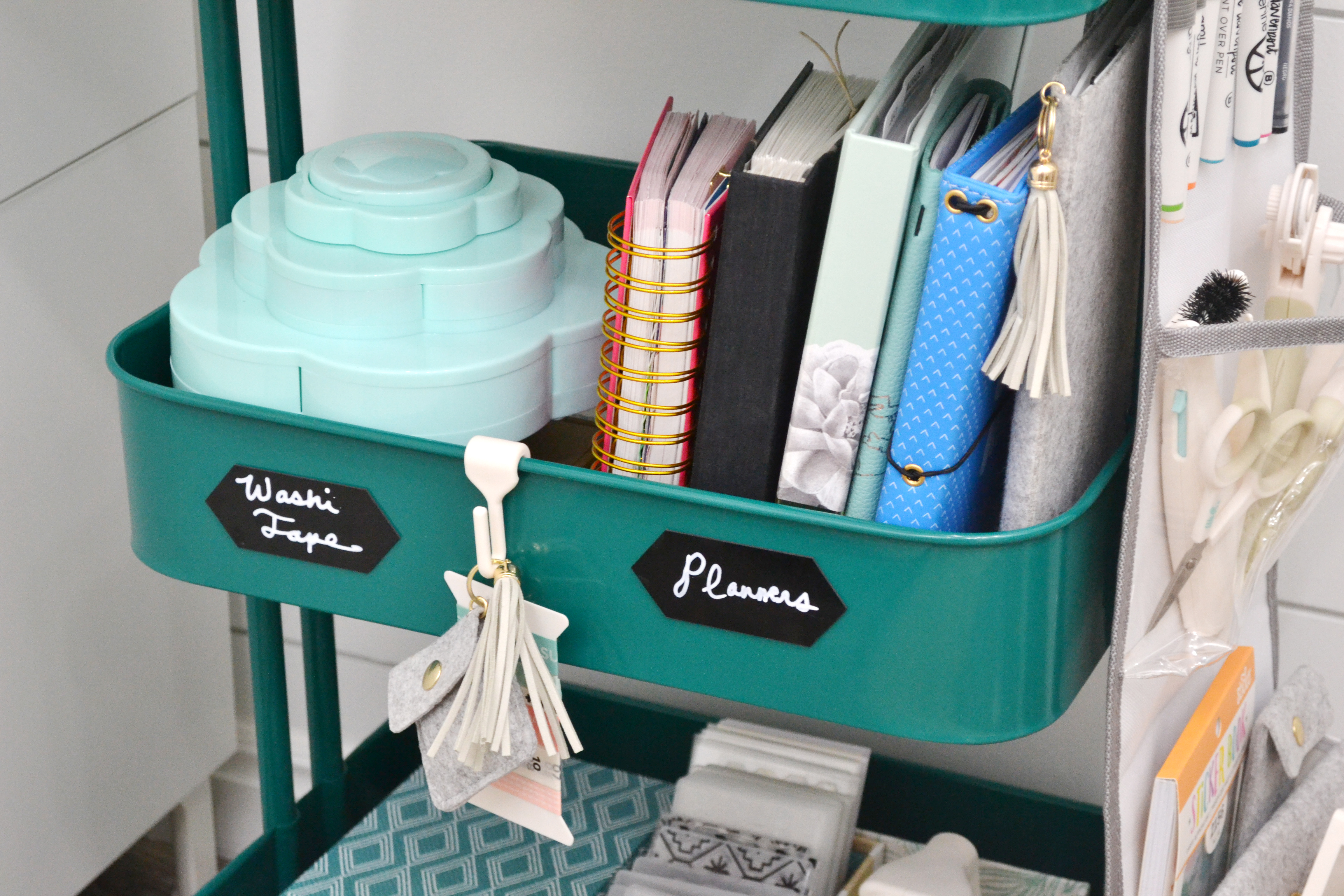 A La Cart storage cart by Aly Dosdall for We R Memory Keepers