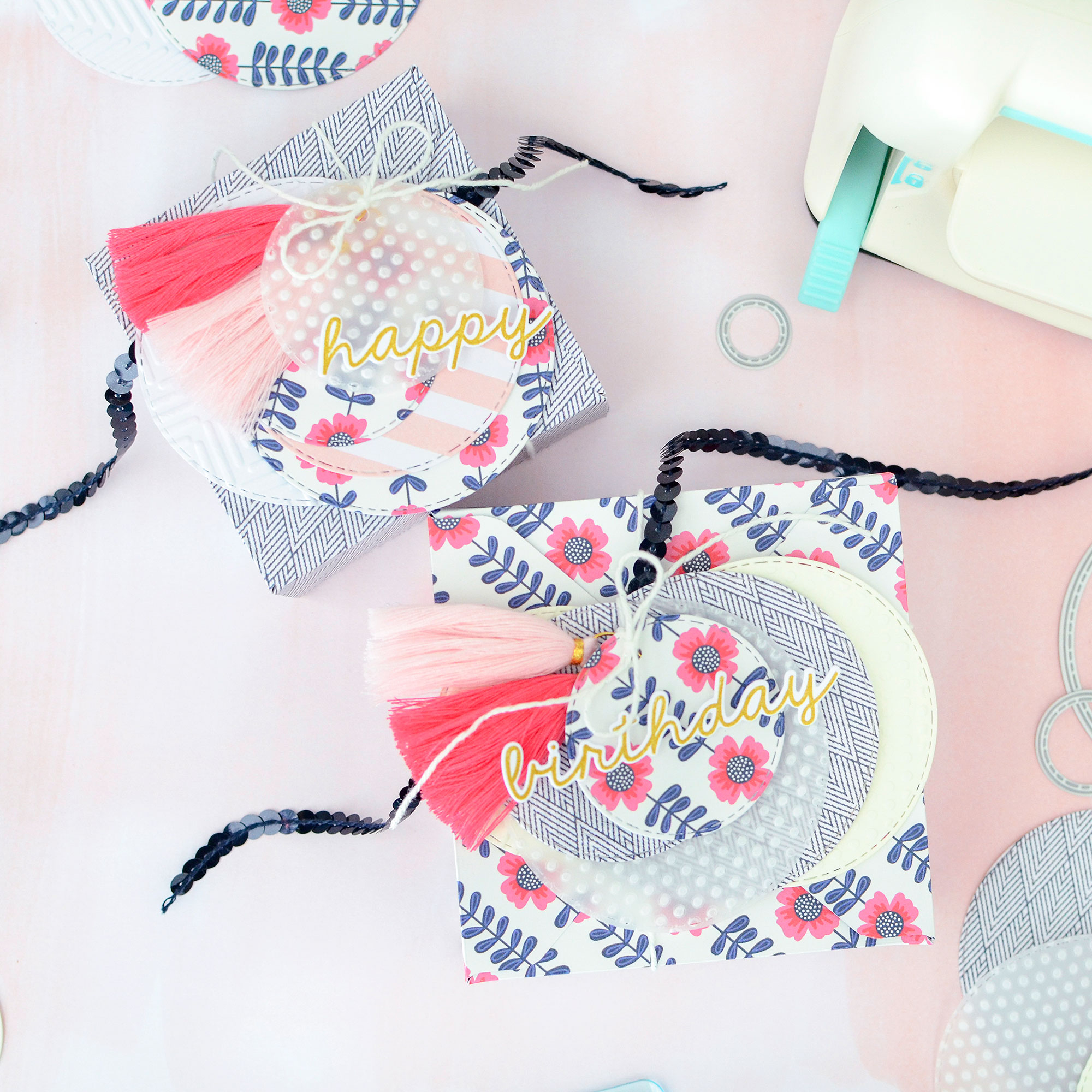 DIY Gift Wrap with the Mini Evolution by Rebcca Luminarias for We R Memory Keepers