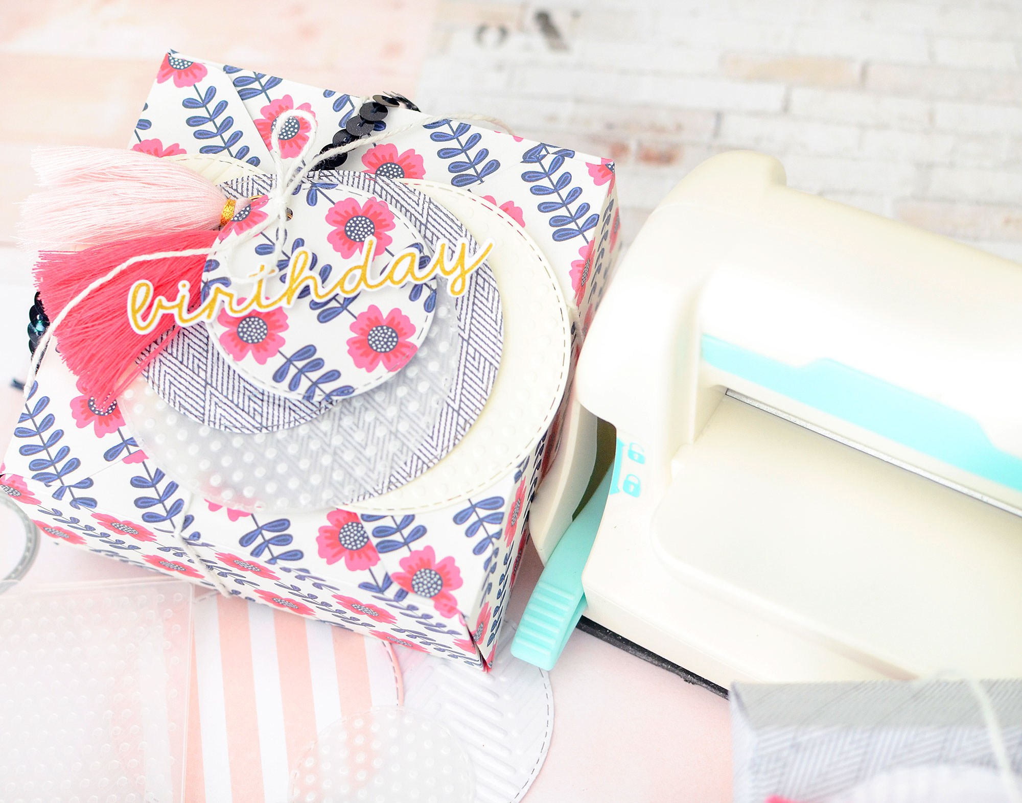 DIY Gift Wrap with the Mini Evolution by Rebecca Luminarias for We R Memory Keepers