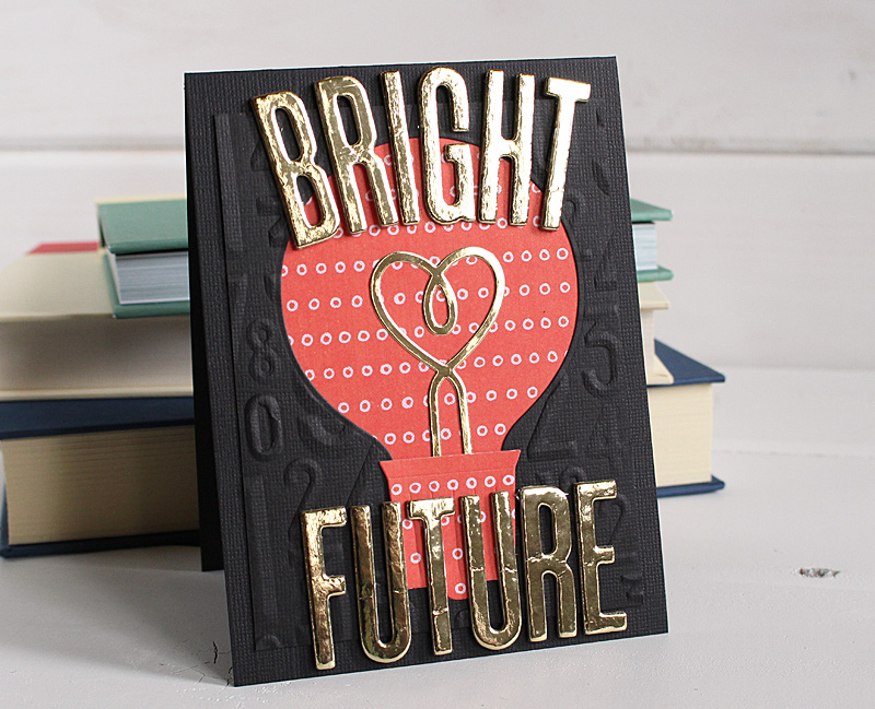 Handmade Graduation Card with the Evolution Advanced and 3D Embossing Folders