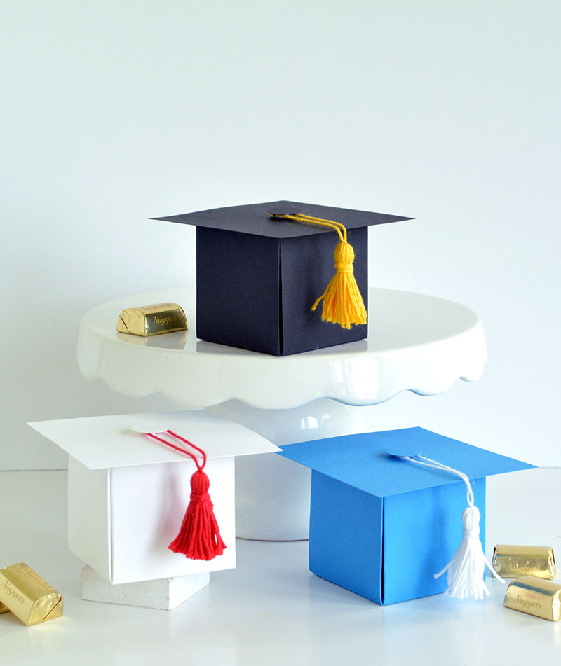We R Memory Keepers Graduation Favor Boxes with the 123 Punch Board